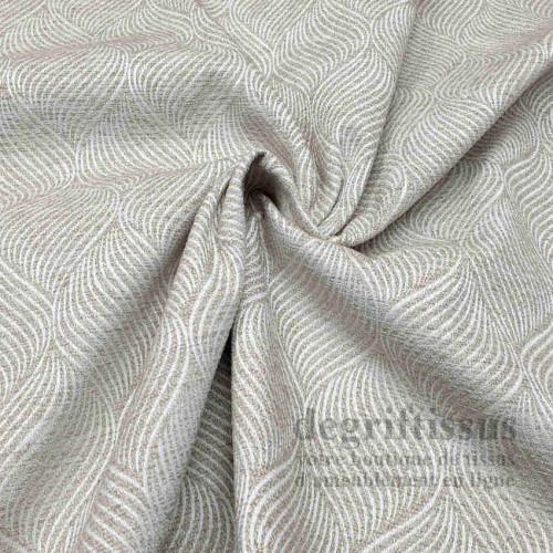 Tissu d'ameublement - Chenille Art Déco avec motifs torsades nacrées, pour chaise, siège, fauteuil, coussin, degriftissus.com