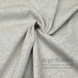 Tissu velours chenille torsades nacrées