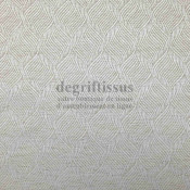 Tissu d'ameublement - Chenille Art Déco motifs torsades nacrées, pour chaise, siège, fauteuil, coussin, degriftissus.com